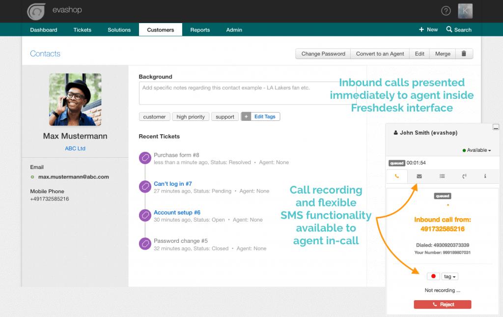 Freshdesk Inbound Call Integration