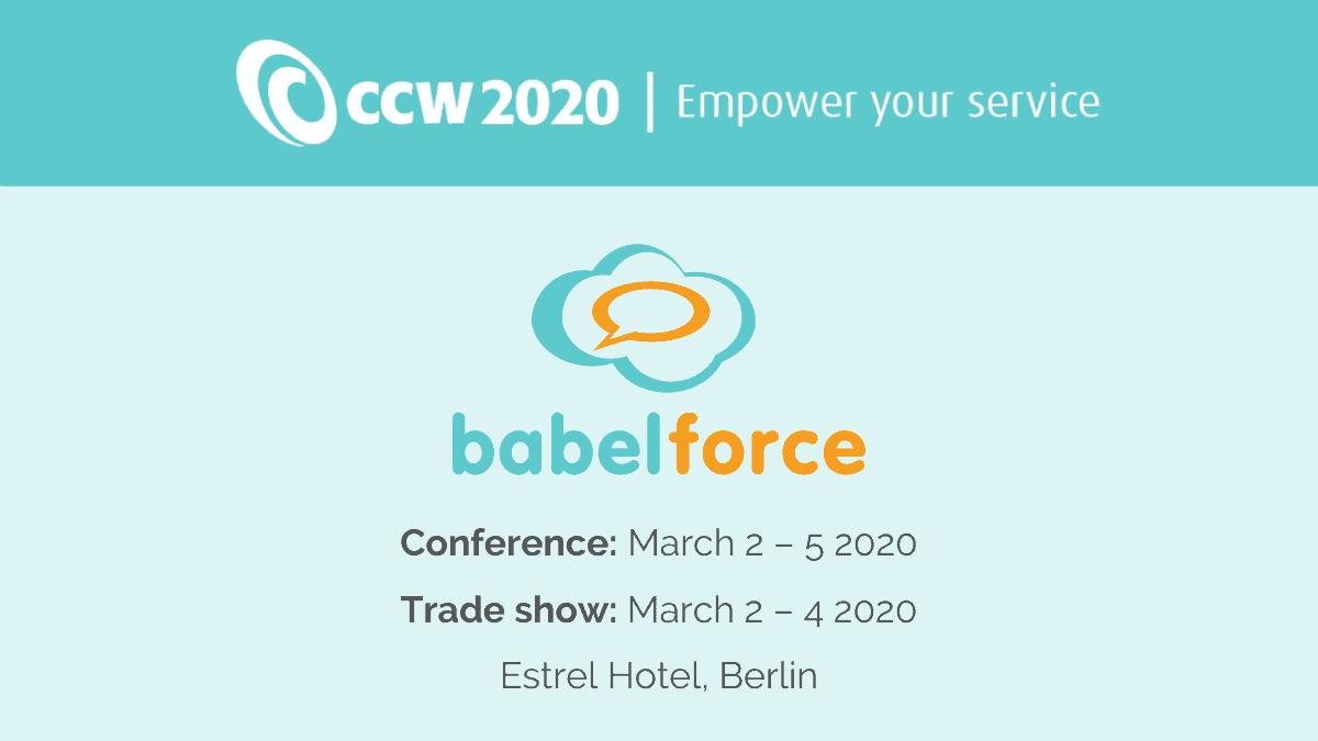 babelforce at CCW2020