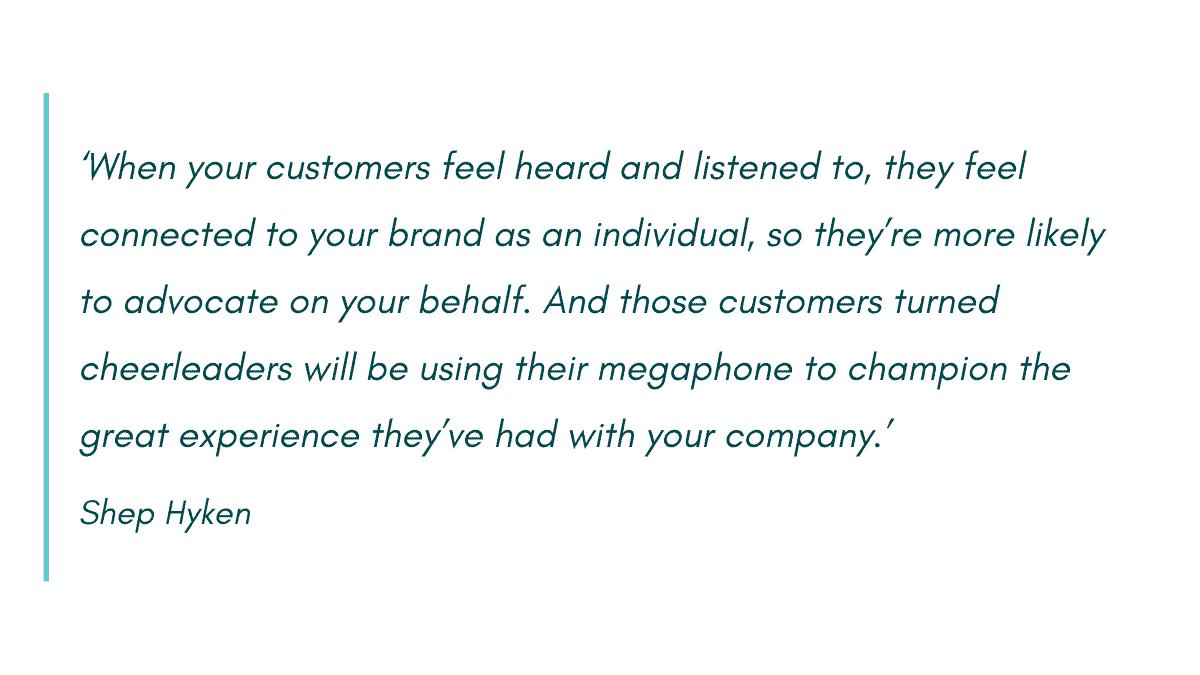 Personalized customer service